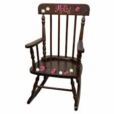 chair with name wooden childrens rocking chair unfinished wood