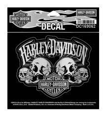 harley davidson skull text bar shield decal sm 4 625 x 3 75 inch