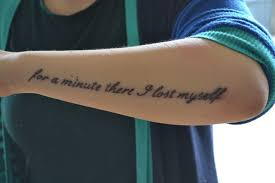 for a minute there i lost myself tattoos