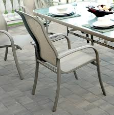 Agio Patio Furniture by Agio Monterey 3 Outdoor Sling Dining Chair With Inserted Woven