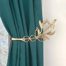 Gold And Teal Curtains Gold Leaf Curtain Holdback Google Search Misc Pinterest
