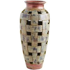 Decorative Vases For Living Room by Terracotta Floor Vase And Open Weaves Design Style Also Medium