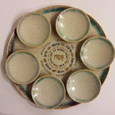 seder plates for sale green crackle ceramic passover seder plateshalom house