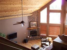 love the ceiling paint color floor and stone combo in this room