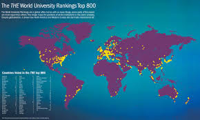 Map Of Countries Best Universities In The World Revealed The World University