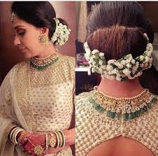 flowers for hair indian bridal hair makeup looks threads werindia