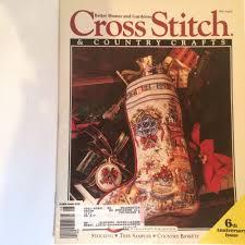 cross stitch u0026 country crafts magazine christmas july august 1991