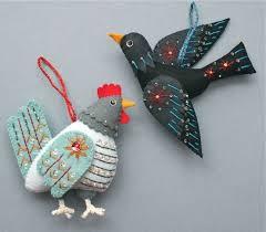 19 best photos of diy ornaments felt birds felt bird