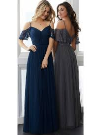 bridesmaid dress blue shoulder a line lace vintage bridesmaid dress
