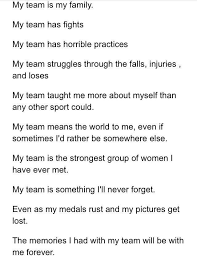 my cheer team is my family and it should say strongest and