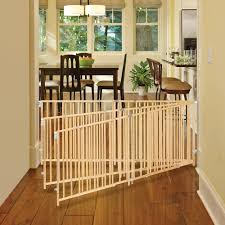north state natural wood extra wide swing baby gate 60