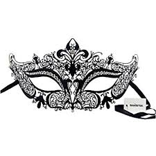 metal masquerade mask signstek deluxe laser cut boutique filigree metal masquerade mask