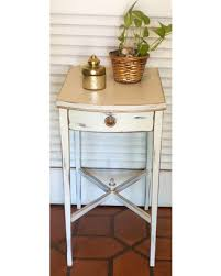 fall sale white shabby chic nightstand end table 1940s