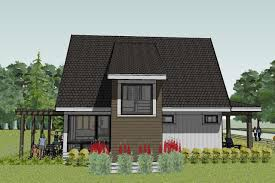 Modern Bungalow House Plans Scandia Modern Cottage House Plan Rear View Floor Plans