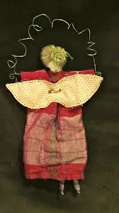 handmade red angel christmas ornament folk haven
