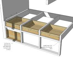 Plans For Bunk Bed With Trundle by Ana White Tiny House Loft With Bedroom Guest Bed Storage And