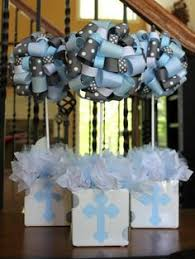 Centerpieces For Boy Baptism by Baby Boy Baptism Centerpiece Babies Breath Blue Mason Jar Frame