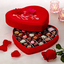 heart chocolate s day satin embroidered heart chocolate gift box 37 pc