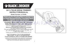manual hedge trimmer black u0026 decker trimmers hedge trimmer lht2436 user u0027s manual