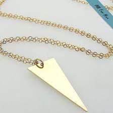 Mens Personalized Necklace Gold Triangle Pendant Necklace For Men Personalized Mens Gift