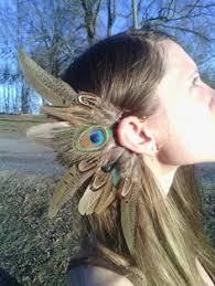 how to make feather ear cuffs feather ear wrap feather ear cuff boho chic by beeesbeads nerdy