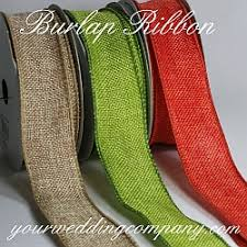 burlap wired ribbon wired faux burlap ribbon 15 colors