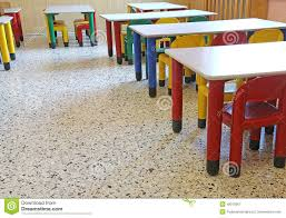 The Dining Room Play by Chairs And Small Tables In The Dining Room Of The Nursery Stock