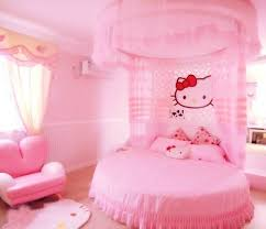 cute hello kitty pink bedroom design for your new born baby