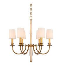 Aged Brass Chandelier Crystorama 8706 Ag Lawson 6 Light 26 Inch Aged Brass Chandelier