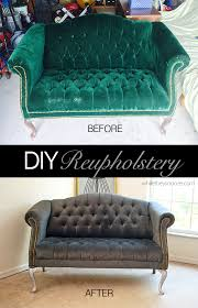 Cost To Reupholster A Sofa While They Snooze How To Reupholster A Tufted Couch