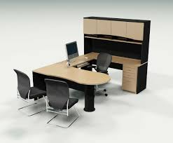 interesting modern computer desk with u shape table design