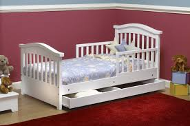 Toddler Bed With High Sides Sorelle Joel Pine Toddler Bed With Storage U0026 Reviews Wayfair