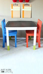 a fun kids u0027 craft table makeover just a and her blog