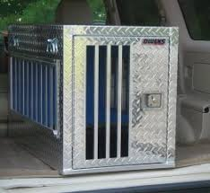 Truck Bed Dog Crate Aluminum Dog Crate Tough Indestructible Kennel Blue Dogs Pet