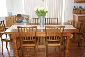 Table In Kitchen Image Of Rustic Square Oak Kitchen Table Love Square Dining Room