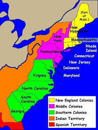 map of colonies 13 colonies map thinglink