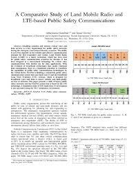 a comparative study of land mobile radio and lte based public
