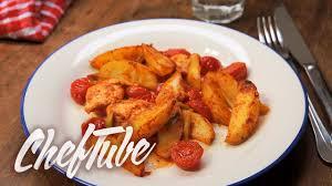 comment cuisiner des blancs de poulet comment faire des blancs de poulet aux frites rustiques recette