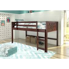 Loft Bed Without Desk Your Zone Twin Wood Loft Bed Multiple Colors Walmart Com