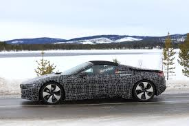 bmw i8 roadster first pictures of prototype testing the garage