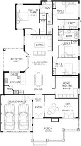 Single Floor Plan by The Island Four Bed Single Storey Home Design Plunkett Homes