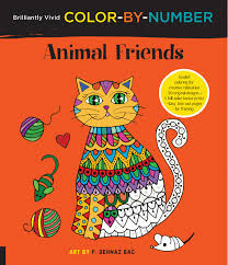 brilliantly vivid color by number animal friends f sehnaz bac