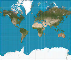 World Map Image by Mercator Projection Wikipedia