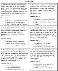 main idea worksheets for 3rd grade worksheets