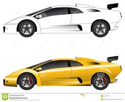 lamborghini sketch side view race car clipart side view pencil and in color race car clipart