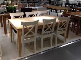 ikea chaise blanche table blanche et bois ikea