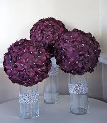 Purple Flowers Centerpieces by Best 25 Flower Ball Centerpiece Ideas On Pinterest Flower Ball