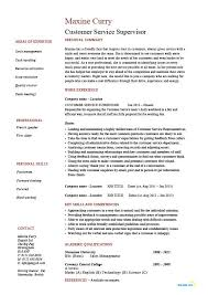 resume template for customer service customer service supervisor resume managing professional