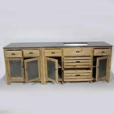 enchanteur meuble cuisine zinc et meuble de cuisine dessus zinc