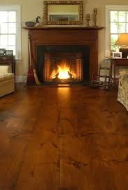 wide plank wood floors tobacco stain by luella flooring